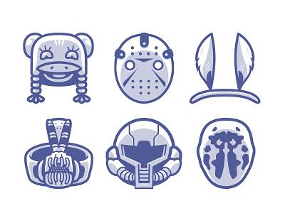 Cranium Adornments Pt. 2 icons illustration illustrator hats line vector