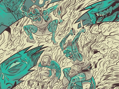 ArtCrank Poster illustration design screenprint poster print photoshop illustrator artcrank drawing line