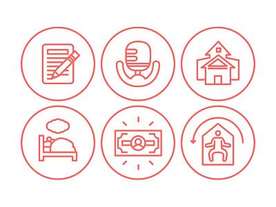 WGE 2015 Website Icons illustrator illustration branding icon web design vector ember design drawing conference