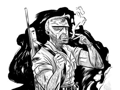 The Cap sketch drawing illustration comics ink bristol character design concept art