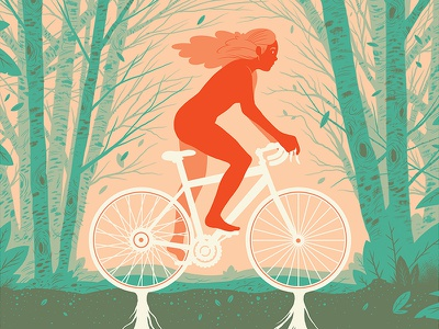 Bike Beautiful show art print illustration drawing gallery screen printing design poster
