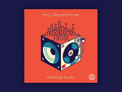 Vinyl Record Noise Album Cover logo brand vector drawing art music record design illustration