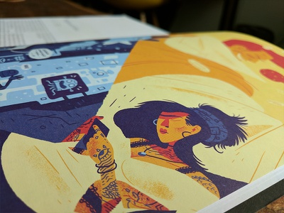 Spectacle Magazine Illustrations - Printed photoshop drawing digital art art design print magazine illustration