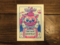 Bryan Medway Risograph Trading Card