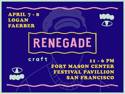 Renegade Craft Fair SF 2018 illustration print art san francisco craft fair brand design