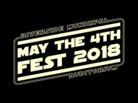 May The 4th Fest 2018 Typography