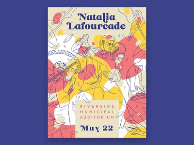 Natalia Lafourcade Poster latin drawing screen print lettering font music typography poster print design illustration