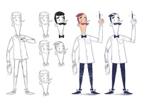 Barber Shop Character Design Rebrand