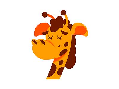 Geoffrey The Giraffe vector branding logo art illustrator digital character design drawing design illustration
