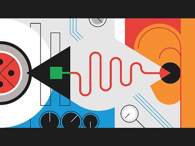 Auxbus Illustration A branding digital art line illustrator art digital vector design drawing illustration
