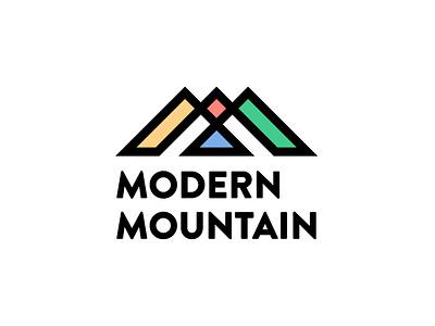 Modern Mountains Logomark print typography branding logo vector illustrator art digital design