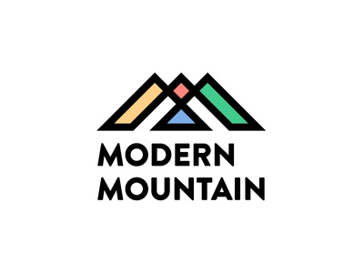 Modern Mountains Logomark print typography branding logo vector illustrator art digital design