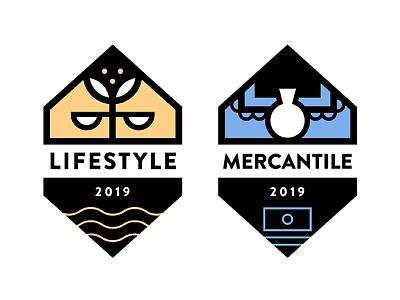 Modern Mountains Badges drawing art illustrator design print logo vector brand identity branding digital illustration