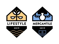 Modern Mountains Badges