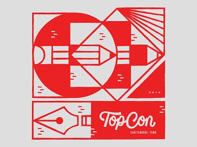 TopCon 2019 Design drawing digital art vector line print art digital design illustrator illustration
