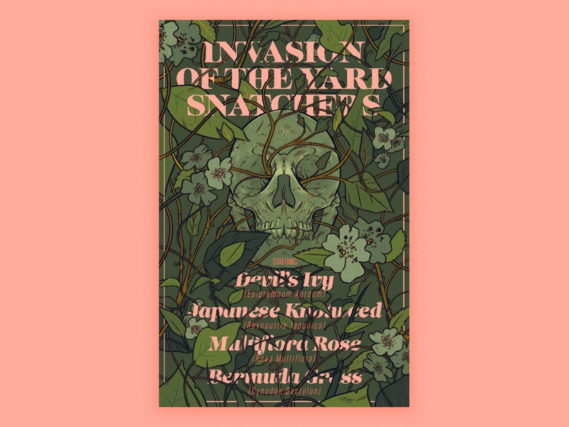 Invasive Species Poster ink typography painting digital art print design poster art digital photoshop design drawing illustration