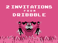 2 Invitations from Dribbble!