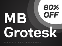NEW!!! 🌟 MB Grotesk Typeface 🌟