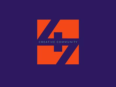 47 Creative Community design graphic 2018 modern symbol reddish orange purple sans geometric logo branding creative