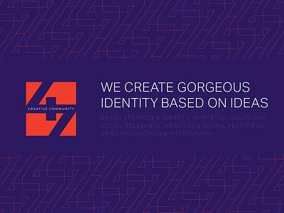 47 Creative Community design graphic 2018 modern symbol reddish orange purple pattern colorful ui branding creative