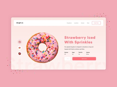 Dough Co. Product Page product website flat web simple minimal modern design ux ui clean