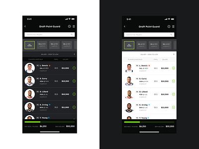 *Freebie* DraftKings Redesign modern clean ui ux basketball sports freebie free application app