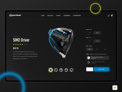 *FREEBIE* Taylormade Concept Redesign web store product design website freebie free product simple design ux ui