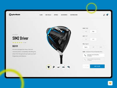 Taylormade Light Concept Redesign freebie free simple flat clean web design sports product design product store website ux ui golf