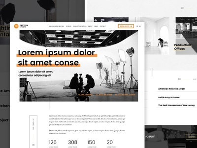 Sneak Peek: Homepage website web ux ui simple orange modern minimal flat design clean black