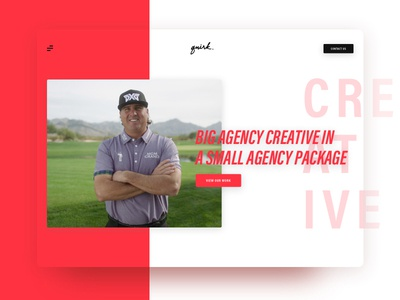 Video Agency - Quirk Redesign website web ui sketch modern minimal homepage digital design color clean brand