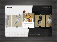 Timeline Concept - NBPA gold white black ui ux website web timeline clean modern basketball app