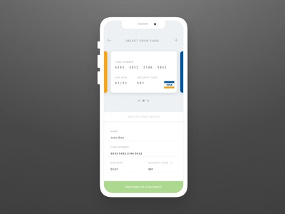 Daily Ui #002 -  Freebie -Credit Card Checkout