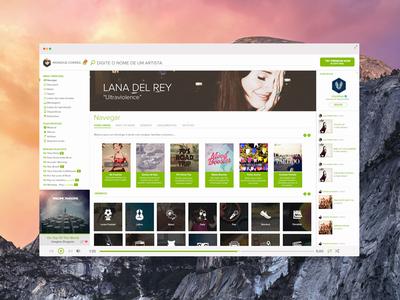 Redesign Spotify Yosemite