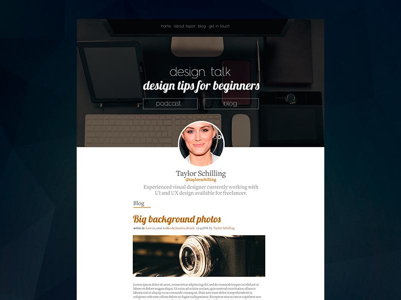 Blog Inspiration Freebie blog theme minimal big background clean wordpress freebie free psd inspiring