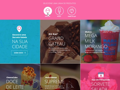 Concept Ice Cream Shop  ux ui user interface site pink candy flat website ice cream