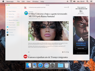 Newsapp macOS paper news application desktopapps clean newsread macos app