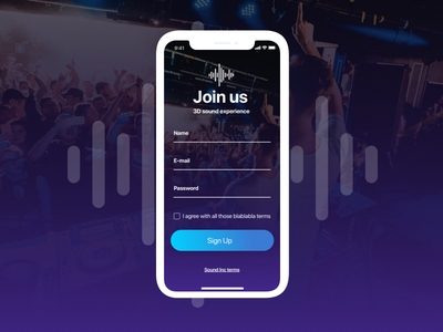 Daily UI 001 #Sign Up iphone x sign up page daily ui dailyui