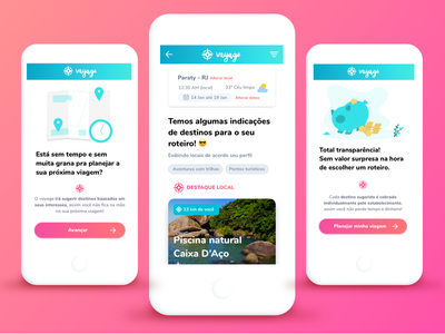 Bon Voyage! 🏖 gradient design mobile app design travel app