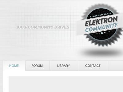 Elektron Community - Early, early design phase elektron forum community white minimal concept comp