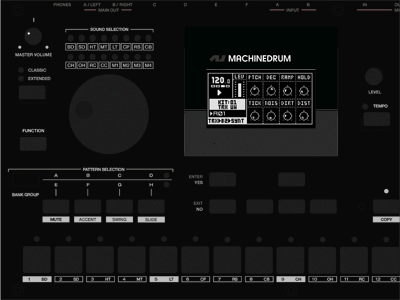 Machinedrum - Monochrome elektron machinedrum