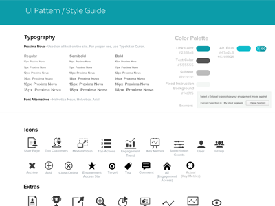 UI Pattern/Style Guide ui patterns guide