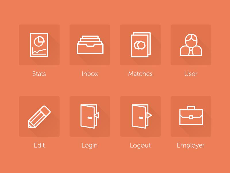 Workshape.io navigation icons icons flat material line stroke brand