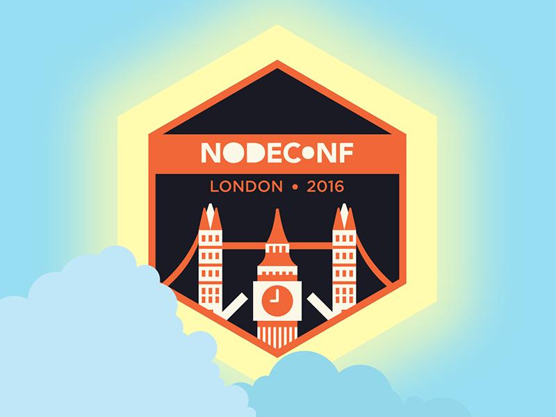 Nodeconf London 2016 logo (Day) illustration flat logo