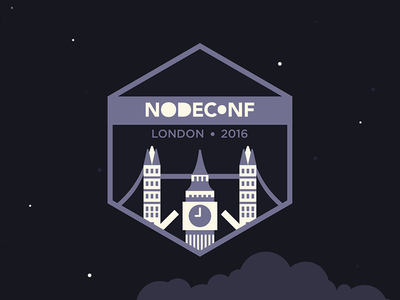 Nodeconf London 2016 logo (Evening)