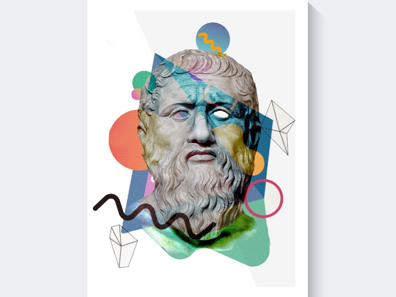 Platon vector typography futuristic futurism philosophy platon poster design posterdesign graphic freelance branding poster illustrator illustration photoshop manupilation design graphic design