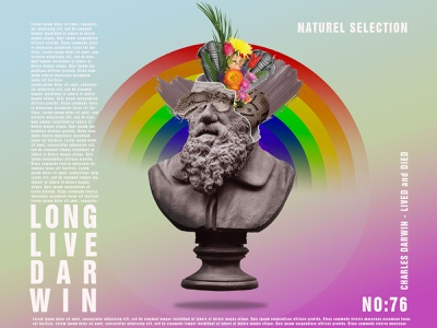 Darwin Poster nature logo natural posterdesign freelance poster design poster branding illustration illustrator design photoshop graphic design manupilation bilim science darwin