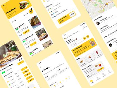 Sandwich Shop App. home delivery kolkata product design ux design ui design ui ux design uiuxdesign sandwich food ordering food ux ui