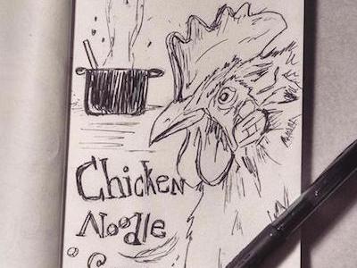 The Recipe food ink chicken sketch inktober