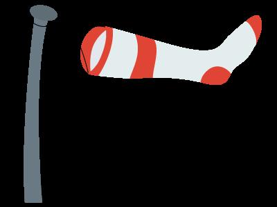 Windsock wind flag sock icon