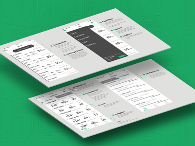 Isometric Wireframes equipment app mockup ux wireframe